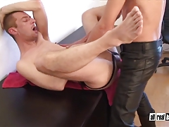 Cumhungry Fuckhole Breeded by Well Strung up Leather Parent