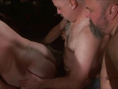 father hunk torn up at fuckfest soiree
