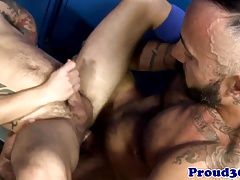 Mature coach assfucking lockerroom stud