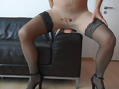 dual nylon, fuck stick and spunk