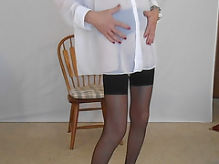 Sheer Milky Over Dark-hued Nylons