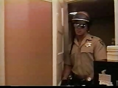 Police romping an Army Soldier in his office