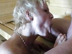 Mature and stranger in Sauna