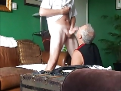 Meaty Cock Tall Ginger gargled off sloppy bum rim