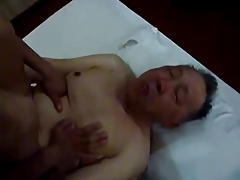 asian old and youthfull tear up