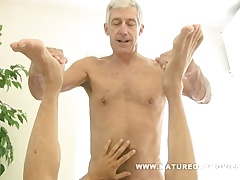 Gorgeous silverdaddy bareback his mature paramour