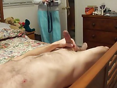 Jacking off in front of my Wife: CFNM