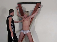 BDSM faggot restrain bondage fellows  youthfull subs schwule jungs