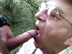 85y old deep throating outdoor