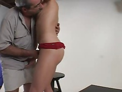 Unshaved Parent Bangs His Model - Str8