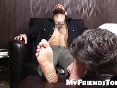 Fabulous  Tino getting a super-fucking-hot foott massage and toes munched