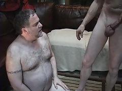 Ginormous hunk getting face screwed