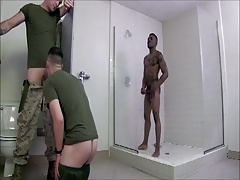 Army's gloryhole (threesome)