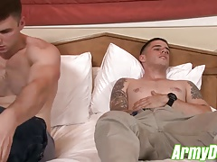 marvelous  army cubs having stiff and harsh hump