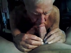 Grandpa sucking!