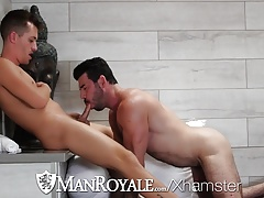 ManRoyale - Billy Santoro Ravages a Youngster at the Tub Mansion