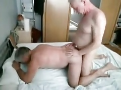 2 mature fellows pounding