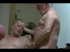 3 mature men throating each other