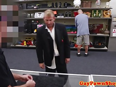 Pawnshop divorcee bum-fucked until cuminmouth