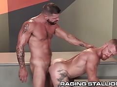 RagingStallion Hunky Redhead Rails Rod with Caboose