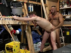 Dad Alessio Romero gets Man sausage in Workers Backside