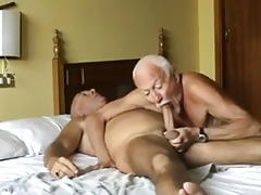 Old mature grandpa deep-throating old mature grandpa