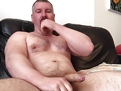 PopperBear Drains Off Uncircumcised Pecker and Ejaculates