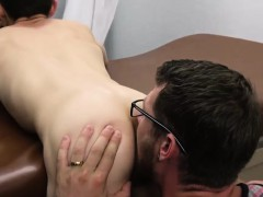 Queer daddy deep-throats man in park Doctor's Office Visit