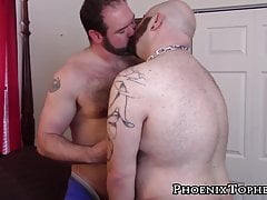 Obese teddy without a condom plows jockstrap teddy doggystyle