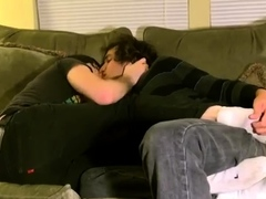 Adorable youngster under rim seat and fag penetrate studs queer bang-out