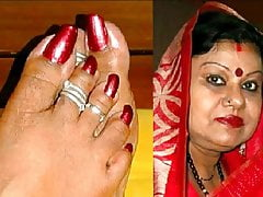 Spicey INDIAN AUNTY Wants Clean out In excess of Her Hands Plus Face