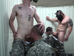 Army cadets sucking cock