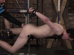 Slave authority Ashton gets fixed above Eli Manuels sexy ass