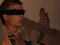 Cute kermis twink gets tortured together with abashed wits his master