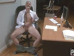 Stunning Bi Grandpa Hammering his meat at the Office 'work'