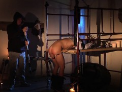 Horny little posterior bloody gets drilled with respect to a making love machine